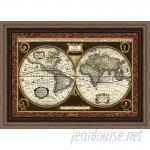 Ashton Wall Décor LLC Trends Decorative World Map Framed Graphic Art AWDC1970