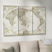 Astoria Grand 'National Geographic World Map' Graphic Art Print Multi-Piece Image on Wrapped Canvas ARGD2318