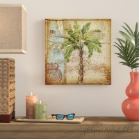 Bay Isle Home 'Antique Palm Tree' Graphic Art Print on Wrapped Canvas BYIL1289
