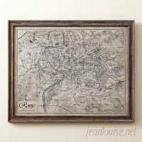 Birch Lane™ Sepia Rome Map Framed Print BL6169