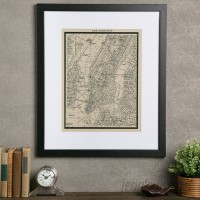 Birch Lane™ Vintage New York City Map Framed Print BL4552