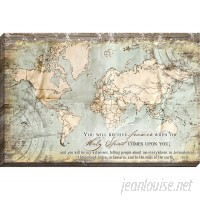 Carpentree Acts 1:8 Map Giclee Graphic Art on Wrapped Canvas CRPE1064