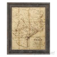 Click Wall Art 'Sepia Texas Map' Framed Graphic Art IZON4201