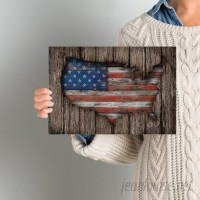East Urban Home 'American Wood Flag' Graphic Art on Wrapped Canvas ESTN7064