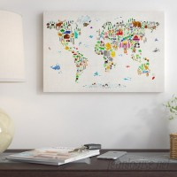 East Urban Home 'Animal Map of the World II' Graphic Art Print ESRB6929