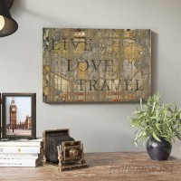 East Urban Home 'Live Love Travel' by Diego Trigall Graphic Art Print ESRB7104