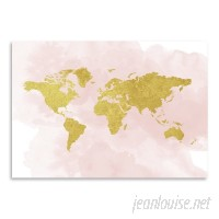 East Urban Home 'Map' Graphic Art Print on Wrapped Canvas EUNH2697