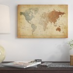 East Urban Home 'Map of the World III' Graphic Art Print ESRB6930