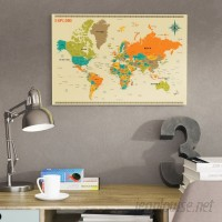 East Urban Home 'New World Map' by Jazzberry Blue Graphic Art Print ESRB7061