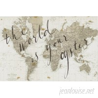 East Urban Home 'The World is Your Oyster' Graphic Art Print ESRB7020