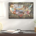 East Urban Home 'USA Map I' Painting Print on Canvas URBH6712