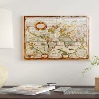 East Urban Home 'Vintage Map' Graphic Art on Wrapped Canvas ETRB1003