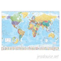 East Urban Home 'World Map' Graphic Art Print Poster ESTN3199