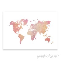 East Urban Home 'World Map Art Marble' Graphic Art Print ERNI1885
