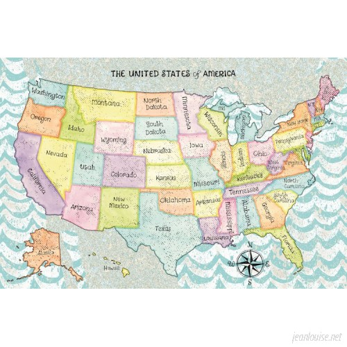 East Urban Home The United States of America Graphic Art on Wrapped Canvas USSC5575