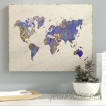 Ebern Designs 'Painterly World' Oil Painting Print on Wrapped Canvas EBRD1779