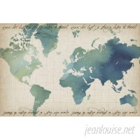 Marmont Hill Watercolor World Map Painting Print on Wrapped Canvas MAAX3471