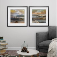 Rosecliff Heights 'Distant islands' 2 Piece Framed Graphic Art Print Set ROHE8638