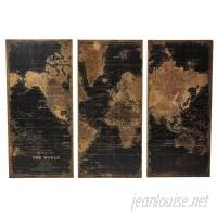 Trent Austin Design Stanford World Map 3 Piece Graphic Art Set TRNT1629