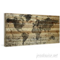 Union Rustic 'Lost in the World' by Parvez Taj Graphic Art Print on Wood in Black/Brown UNRS1790