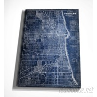 WexfordHome 'Chicago Map Blue' Graphic Art Print on Wrapped Canvas WEXF2178
