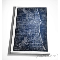 WexfordHome 'Chicago Map Blue' Graphic Art Print on Wrapped Canvas WEXF2179