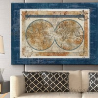 WexfordHome Blueprint of the World by Carol Robinson Graphic Art on Wrapped Canvas WEXF1666