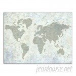 Williston Forge 'Neutral World Map' Acrylic Painting Print on Canvas WLFR3576