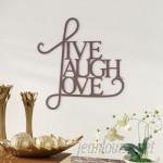 Andover Mills Live, Laugh, Love Antique Copper Wall Decor ADML8146
