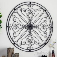 Cole Grey Metal Round Wall Décor COGR9382