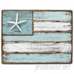 Highland Dunes Coastal Flag Sign with Rope Wall Décor HLDS2116