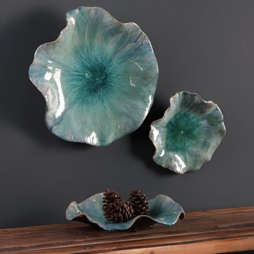 Latitude Run 3 Piece Ceramic Flowers Wall Décor Set LATT1591