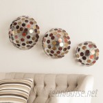 Wildon Home ® Jarvis 3 Piece Metal Sphere Sculpture Wall Décor Set CST43304