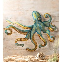 Wind Weather Handcrafted Metal Octopus Wall Décor WIWE1403