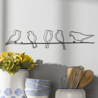 August Grove Rioux Birds On A Wire Wall Décor ATGR3771