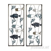 Cole Grey 2 Piece Metal Wall Décor Set CLRB1488