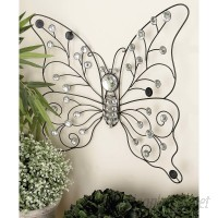Cole Grey Metal Butterfly Wall Décor COGR1637