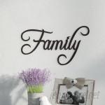 Fleur De Lis Living Family Word Sign Fancy Script Wall Décor SATW1000