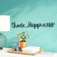 Latitude Run Choose Happiness 3D Cursive Metal Wall Décor LATR1553