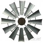 Laurel Foundry Modern Farmhouse Full Galvanized Metal Windmill Wall Décor LRFY6204