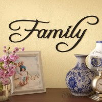 Red Barrel Studio Family Word Sign Metal Wall Décor RDBT7279