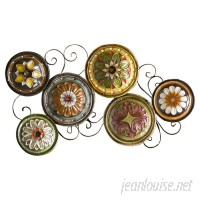 Three Posts Scattered Metal Italian Plates Wall Décor TRPT3480