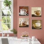 Andover Mills Espresso, Coffee, Latte, Cappuccino 4 Piece Graphic Art Wall Plaque Set ADML8158