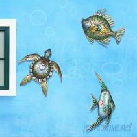 Bay Isle Home 3 Piece Sea Life Outdoor Wall Decor Set BAYI8348