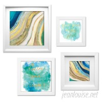 Beachcrest Home Geode Collage 4 Piece Framed Graphic Art Set BCHH1196