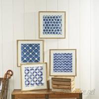 Birch Lane™ Framed Blue Geometric Prints BL22058