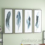 Brayden Studio Feathered Beauty Prints 4 Piece Framed Graphic Art Set BRSD4247