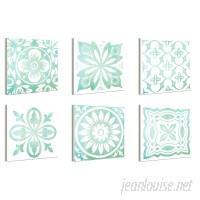 Bungalow Rose 'Rosette Patterns' 6 Piece Wall Plaque Set BNRS3908