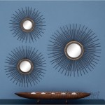 Cole Grey 3 Piece Metal Mirror Wall Décor Set CLRB2982