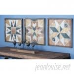 Cole Grey 3 Piece Wood Wall Decor Set CLRB3402
